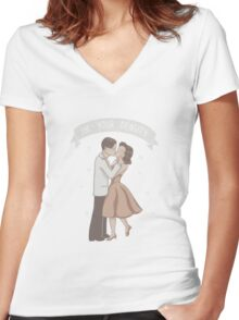 My Density Has Brought Me To You Women's Fitted V-Neck T-Shirt