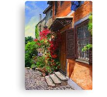 A Tuscany Villa in Spring  Canvas Print