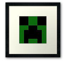 Minecraft - Creeper Framed Print