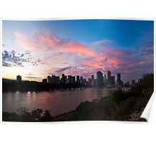 Pink Brisbane Poster