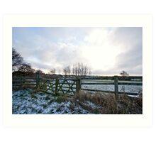 Yorkshire snow scene Art Print