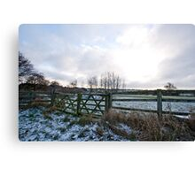 Yorkshire snow scene Canvas Print