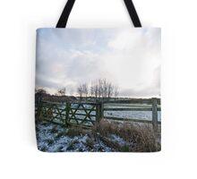 Yorkshire snow scene Tote Bag