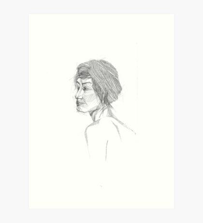 female portrait Art Print