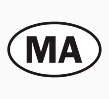 Massachusetts - MA - oval sticker and more by welikestuff