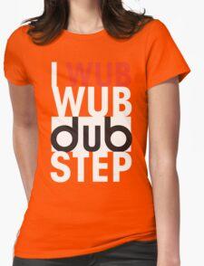 I wub wub dubstep (black) Womens Fitted T-Shirt
