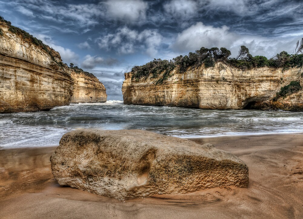 Scratched into stone - Loch Ard Gorge by Jason Ruth