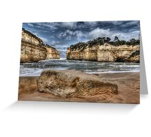 Scratched into stone - Loch Ard Gorge Greeting Card