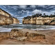 Scratched into stone - Loch Ard Gorge Photographic Print