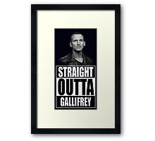 Straight Outta Gallifrey - Dr. Who Framed Print