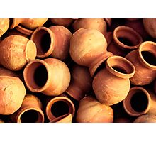 India: A Day in the Life of Varanasi #1 - Earthenware Pots Photographic Print