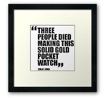 Conor McGregor - Quotes [Pocket Watch] Framed Print