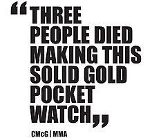 Conor McGregor - Quotes [Pocket Watch] Photographic Print