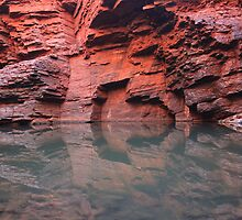 Reflections Weano Gorge Karijini Australia View LARGE by Karry Smith