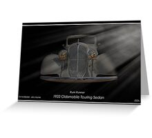 1933 Oldsmobile Touring Sedan - Rum Runner Greeting Card