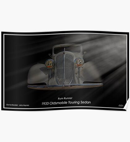 1933 Oldsmobile Touring Sedan - Rum Runner Poster