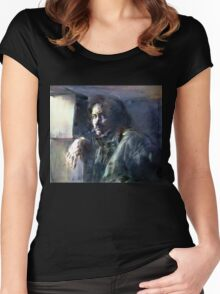 Portrait of Kip Hanrahan (at the 11th Street Studio, NYC) Women's Fitted Scoop T-Shirt