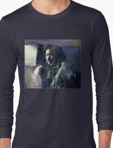 Portrait of Kip Hanrahan (at the 11th Street Studio, NYC) Long Sleeve T-Shirt