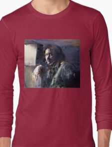 Portrait of Kip Hanrahan (at the 11th Street Studio, NYC) Long Sleeve T-Shirt