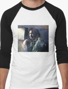Portrait of Kip Hanrahan (at the 11th Street Studio, NYC) Men's Baseball ¾ T-Shirt