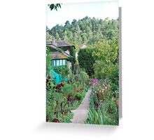 Monet's house and garden.  Giverny, France. Greeting Card