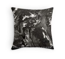 ghiacciaio del belvedere Throw Pillow