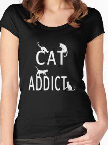 Cat Addict Women's Fitted Scoop T-Shirt