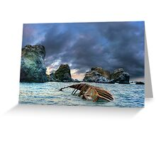 After storm, shipwreck Greeting Card
