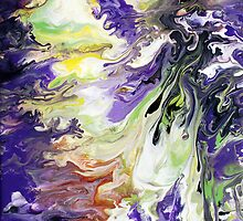 Purple & Green Liquid Painting by markchadwick