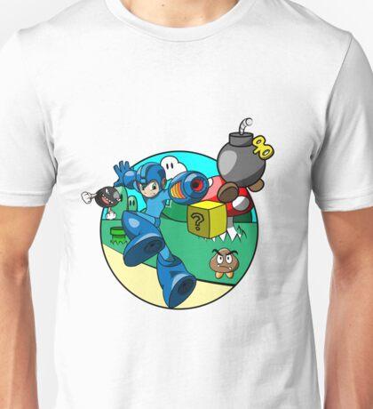 megaman in the mushroom kingdom Unisex T-Shirt