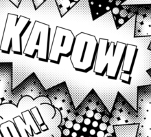 Blam! Zap! Kapow! Boom! Crunch! Sticker