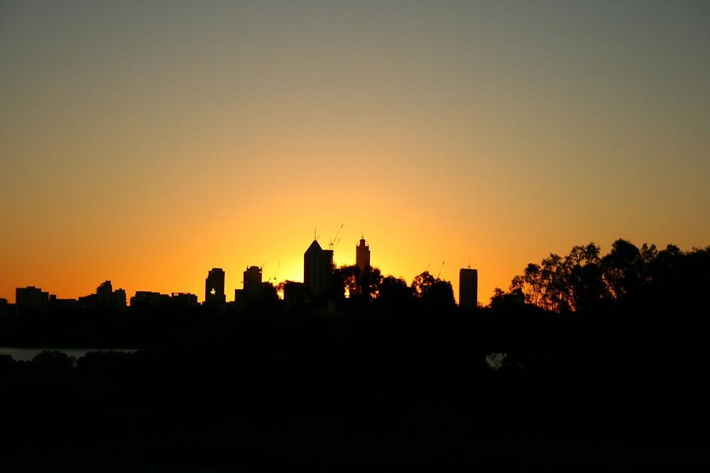 Perth City Glow by shazart