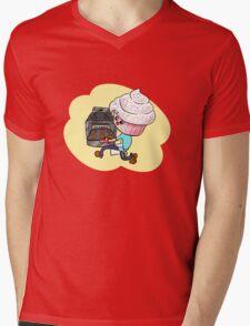 Cupcakeman Mens V-Neck T-Shirt