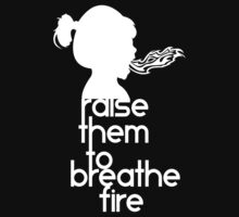Raise Them To Breathe Fire - SassyPants Edition (WHITE) One Piece - Short Sleeve