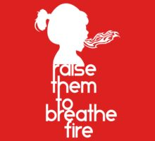 Raise Them To Breathe Fire - SassyPants Edition (WHITE) Kids Clothes