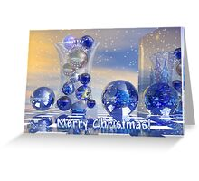 Surreal Merry Christmas card Greeting Card