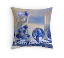 Surreal Merry Christmas card Throw Pillow