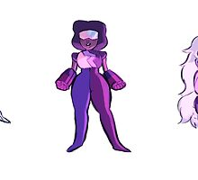 Crystal gems stickers by bevsi