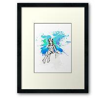 Strike a pose (blue) Framed Print