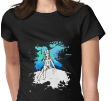 Strike a pose (blue) Womens Fitted T-Shirt