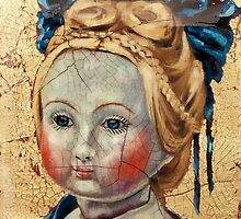 """Nothing to Fix"" (Antique French Doll) by Blue Reid"