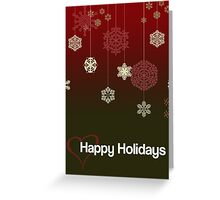 Happy Holidays Loveheart Greeting Card