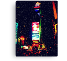 Times Square in Winter Canvas Print