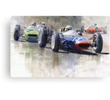 Lola Lotus Cooper Ferrari Datch GP 1962 Canvas Print
