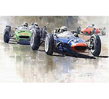 Lola Lotus Cooper Ferrari Datch GP 1962 Photographic Print