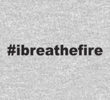 #ibreathefire - I Breathe Fire - T-Shirt (Dark Grey) One Piece - Long Sleeve