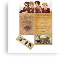 The Maruders of Harry Potter  Canvas Print