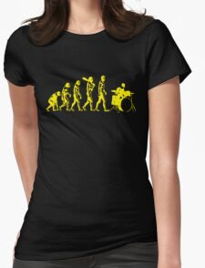 Evolution Of Drummer Evolution Womens Fitted T-Shirt