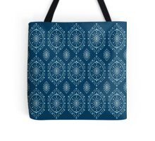Navy Blue Pattern Tote Bag