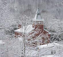 Beautiful Winter Church Gothic White by Rai Ball (Rai's Gently Used Books)